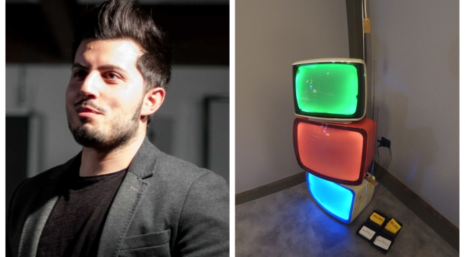 Upcycled televisions transformed into lamps: From Milan to Osaka through the theme of Design and Planet.
