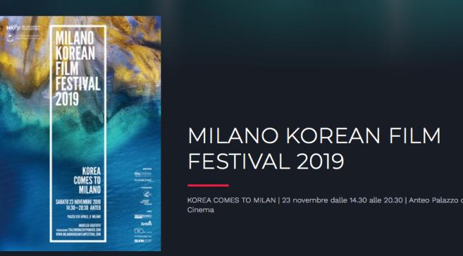 MKFF 2019 Korea comes to Milano… and viceversa
